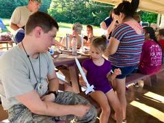 Cadet with kids