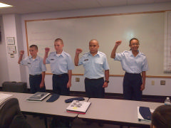 New inductees to the Orange County Comp Squadron